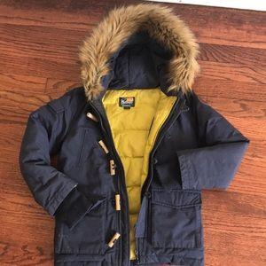 Boys Woolrich Down Coat Jacket Size 5 Designer